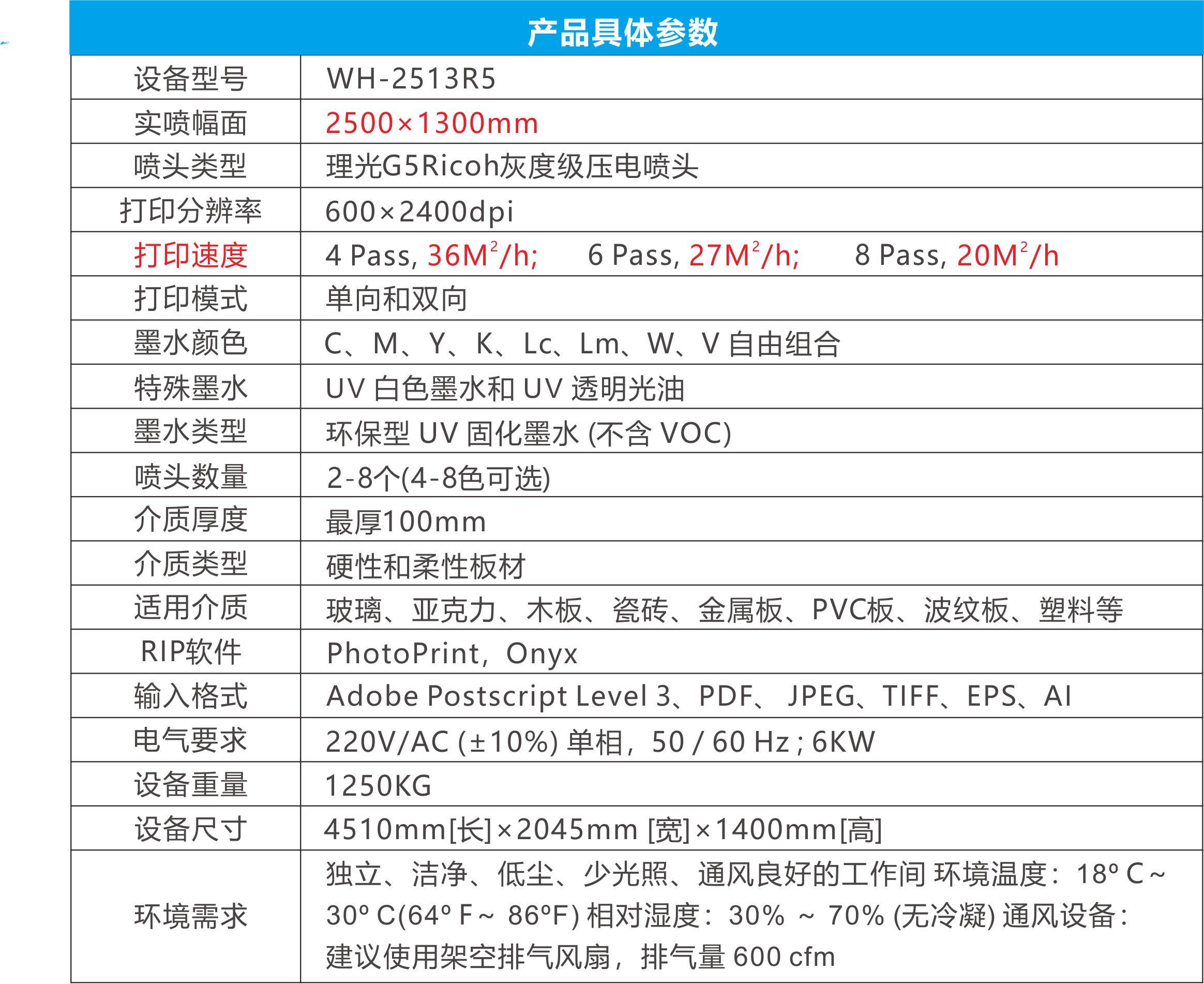 高精度平板uv数码打印机参数